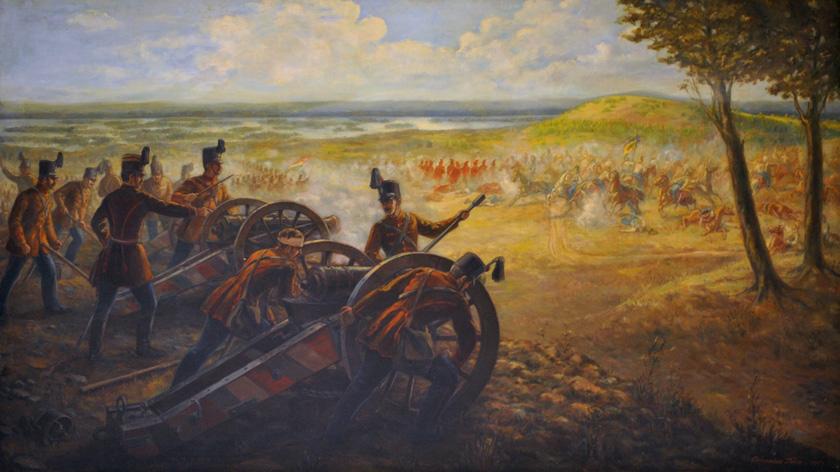 Domokos Imre: Honvédtüzérek a pákozdi csatában