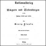 Georg Klapka (Klapka György): Der Nationalkrieg in Ungarn und Siebürgen in den Jahren 1848 und 1849