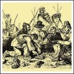 Táborozó horvát népfelkelők