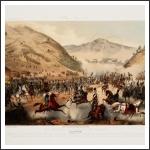 A pákozdi csata – a kép középpontjában az a jelenet látható, amikor a magyar tüzérség megállítja a cs. kir. lovasság támadását, s Jellačić zászlóval a kezében, megpróbálja megállítani a visszaözönlő gyalogságot.