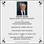 Elhunyt Gavlik István