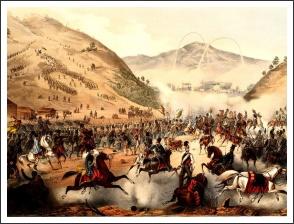 A pákozdi csata (J. Rauh litográfiája)