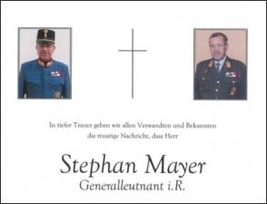 Elhunyt Stephan Mayer