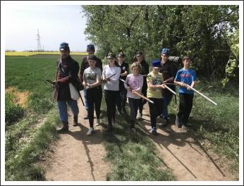 Kishuszárok Simonpusztán (fotó: Budai 2-ik Honvédzászlóalj)
